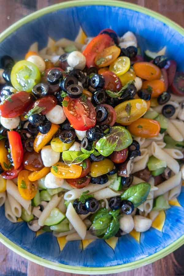 mediterranean pasta salad, gluten free