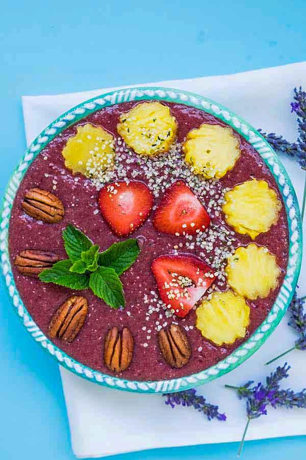 pineapple chia bowl, summer recipes