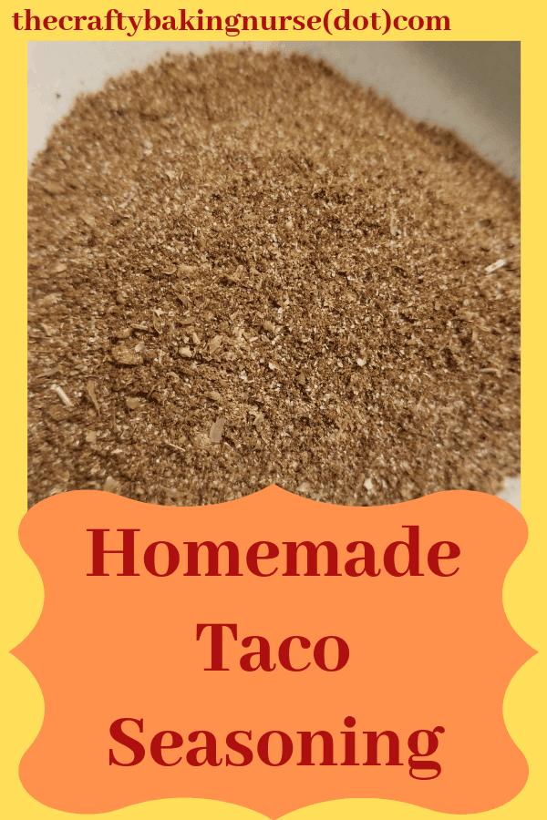 Homeamde taco seasoning