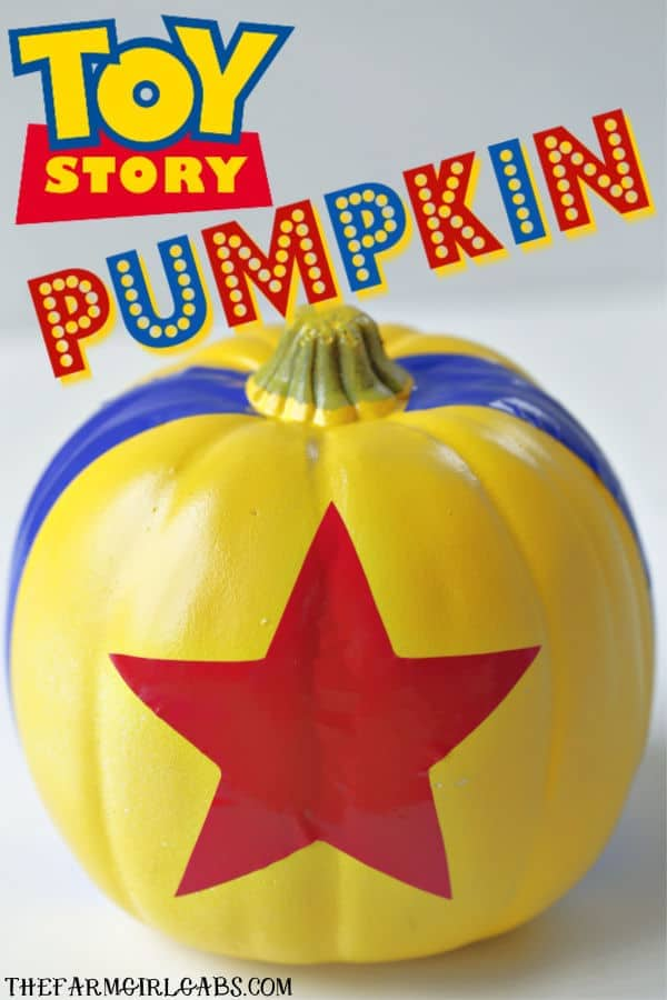 Buzz Lightyear to Star Command. Halloween is around the corner and we are beaming up this rootin-est tootin-est DIY Toy Story Pumpkin. The toys, I mean kids will love this easy Disney craft. #ToyStory #DisneyCraft #Halloween #Pumpkin #NoCarvePumpkin #WaltDisneyWorld