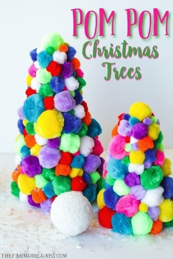 You can never have enough Christmas trees during the holiday. Add a bit of fun to your holiday decor and make a few of these DIY Pom Pom Christmas Trees. #PomPomTree #PomPomCraft #ChristmasDecoration #Christmas #PomPomChristmasTree #ChristmasCraft #Xmasdecorations #Xmascrafts #Christmasdecorationideas