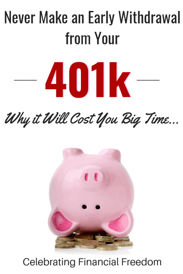 Never Make an Early Withdrawal from Your 401k! Why it Will Cost You Big Time 2