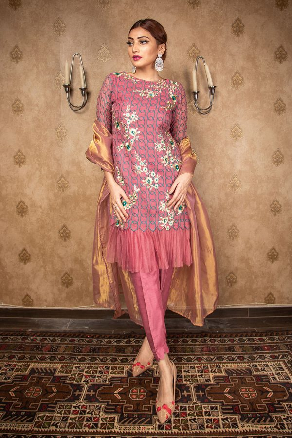 Buy Exclusive Mauve Party Wear – Aqs212 Online In USA, Uk & Pakistan - 03