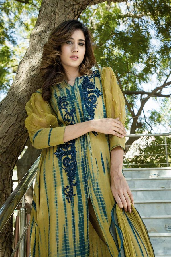 Buy Exclusive Olive Green Luxury Pret –Sds450 Online In USA, Uk & Pakistan - 02