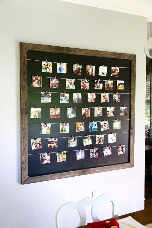 how to make a DIY photo display wall