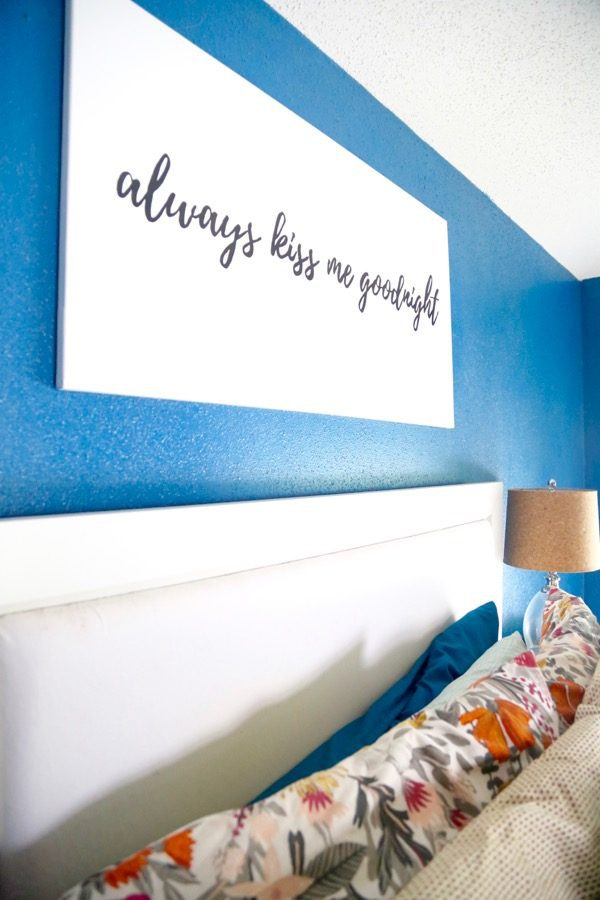 how to make DIY art for bedroom
