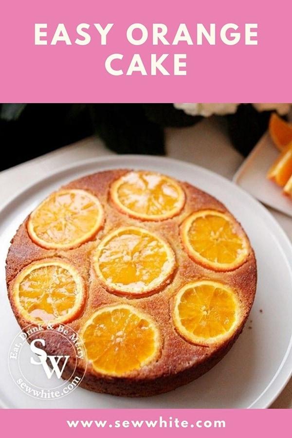 easy orange cake pin