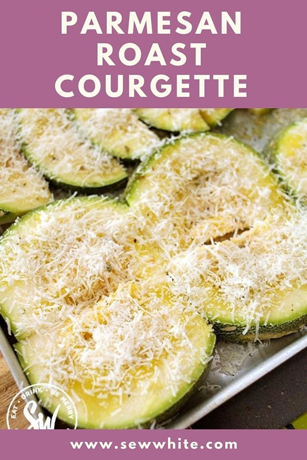 Parmesan roast courgette