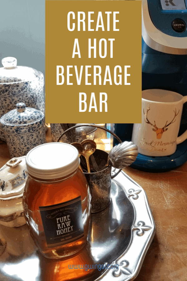 How to create a coffee bar, hot cocoa bar, beverage bar