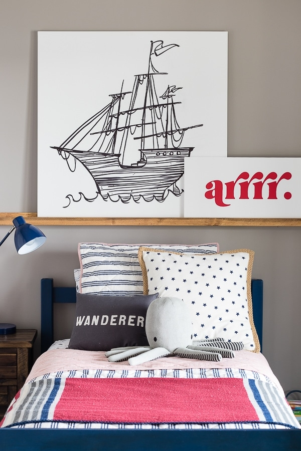 Pirate themed boy bedroom