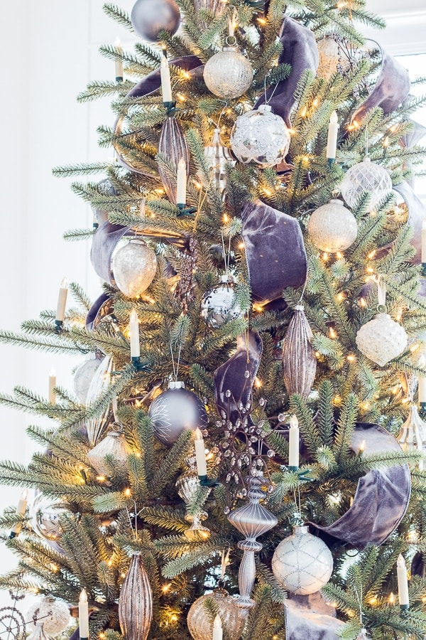 silver and grey crystal christmas ornaments