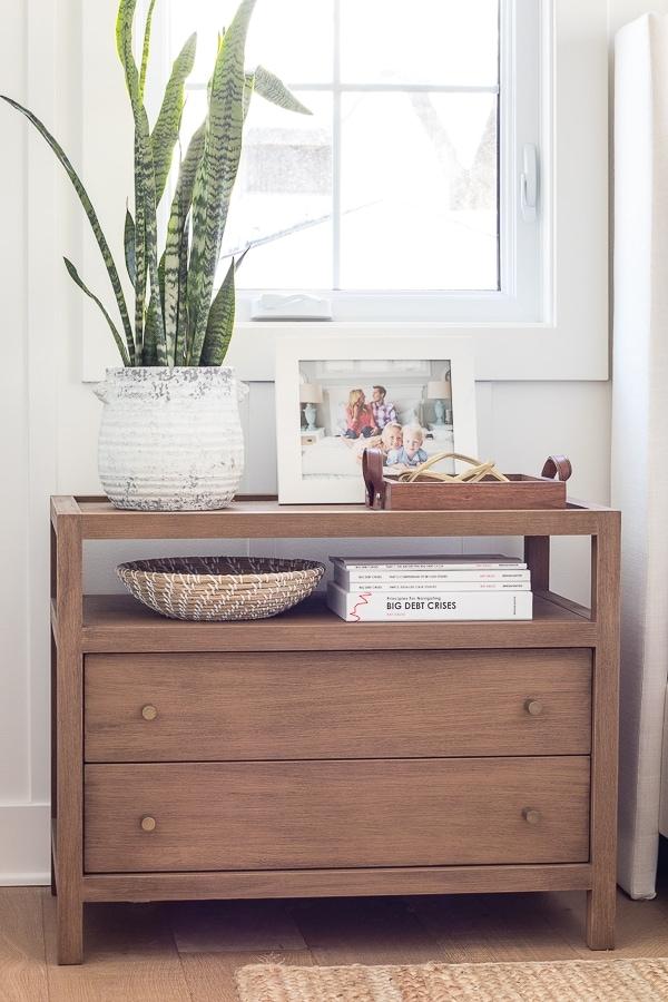 wood 2 drawer nightstands