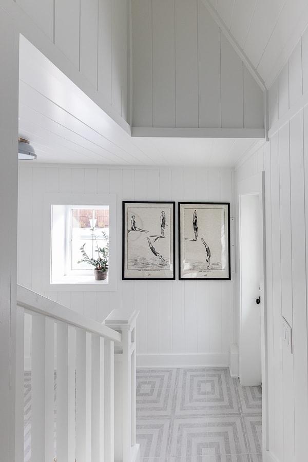 vintage diving prints framed