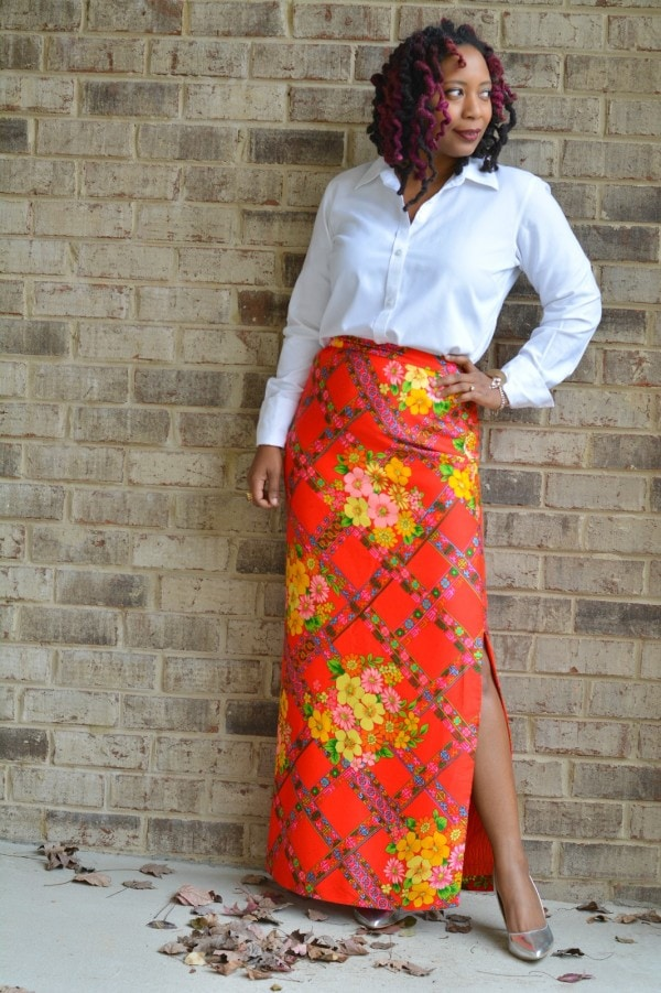 Printed Maxi Skirt | 40plusstyle.com