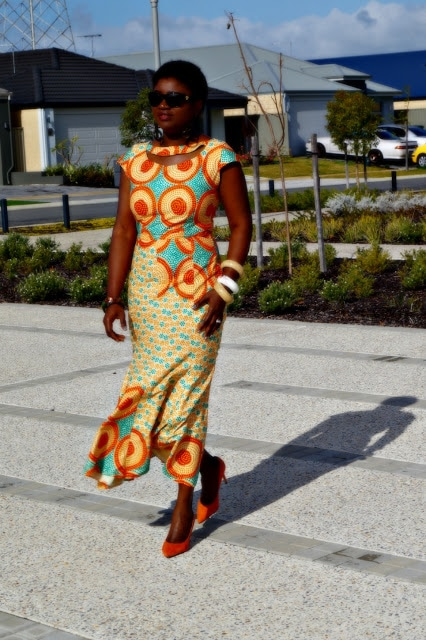 African print dress | 40plusstyle.com