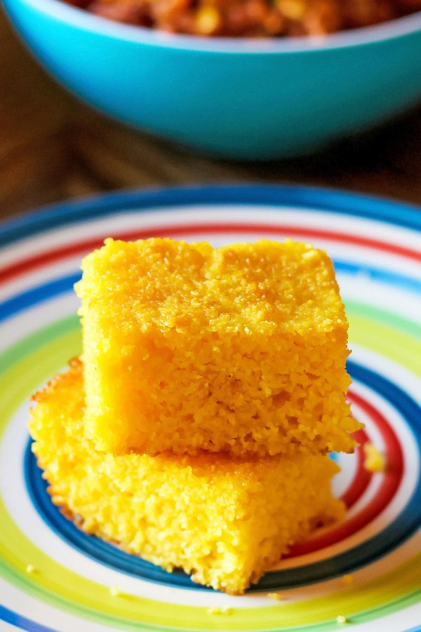Pieces of Cornbread gluten free