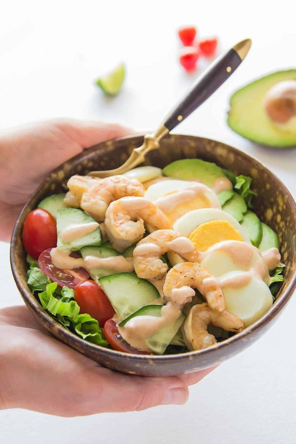 Shrimp Louie Salad with Avocado