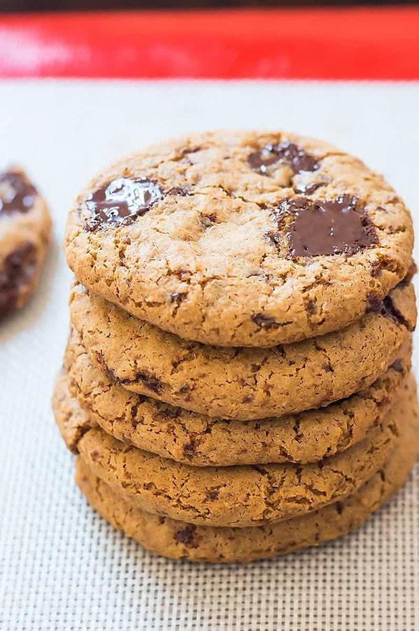 Stack of Coconut Flour Cookies