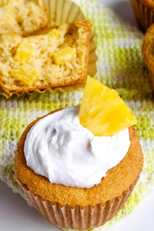 Gluten Free Pineapple muffins made with coconut flour