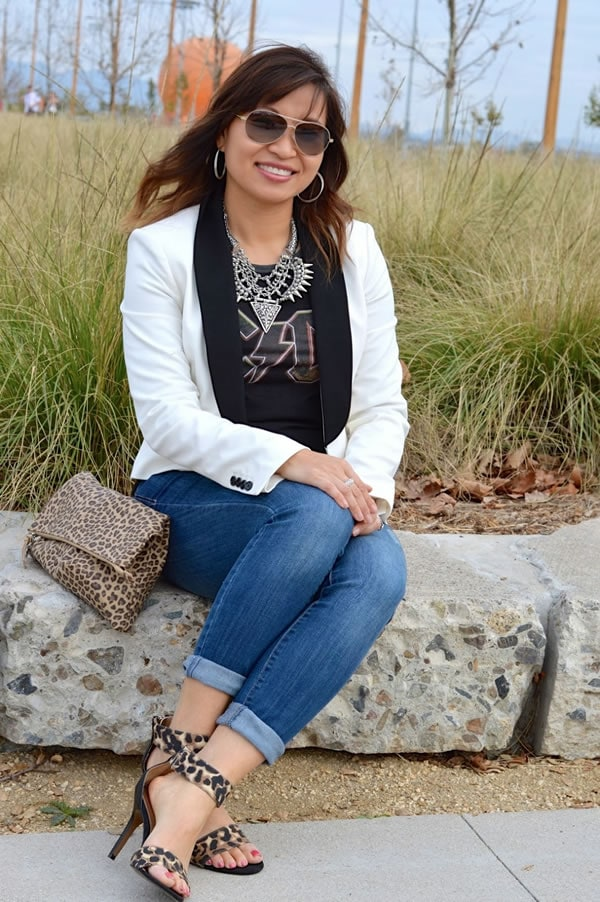 stylish in jeans | Peplum effect | a style intereview with Alice | 40PlusStyle.com