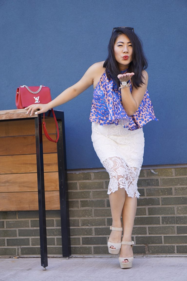 Ideas on how to wear a white Lace skirt | 40plusstyle.com