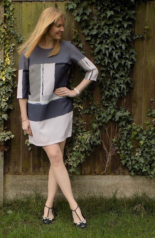 Great Plains Art Class Colourblock Shift Dress with Mulberry Mary Janes | 40plusstyle.com