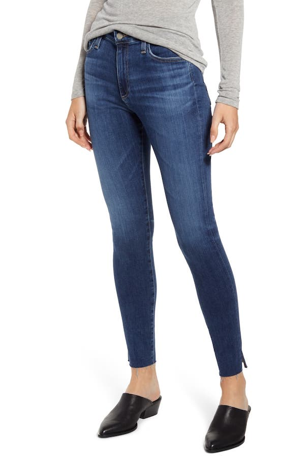 AG The Farrah High Waist Ankle Skinny Jeans