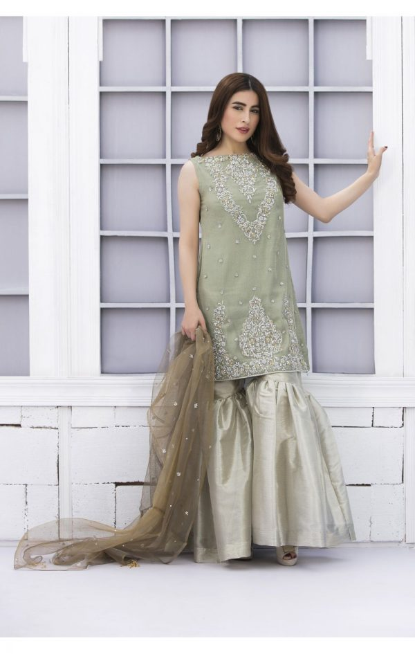 Buy Exclusive Pista Green And Dull Gold Bridal Wear – Sdbd02 Online In USA, Uk & Pakistan - 01