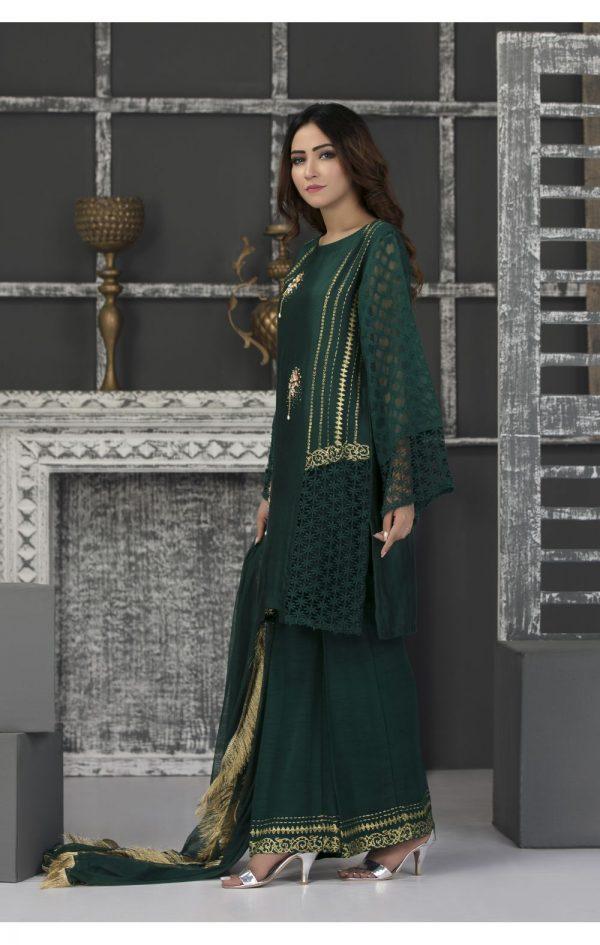 Buy Exclusive Bottle Green Casual Wear – Sac2341 Online In USA, Uk & Pakistan - 01