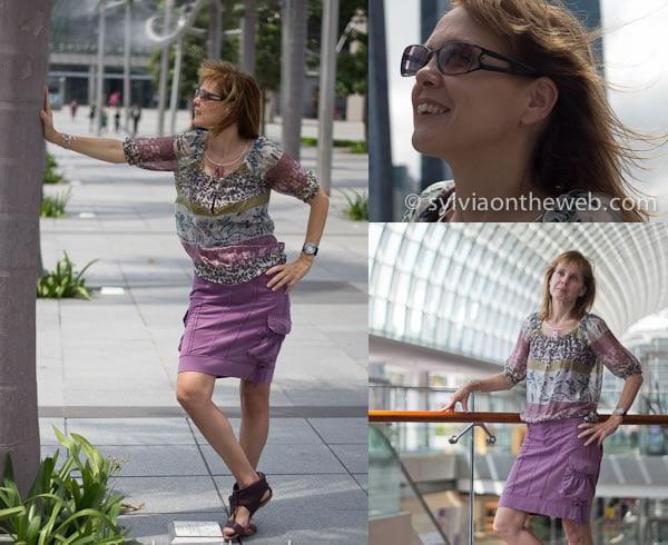 Dressed in purple