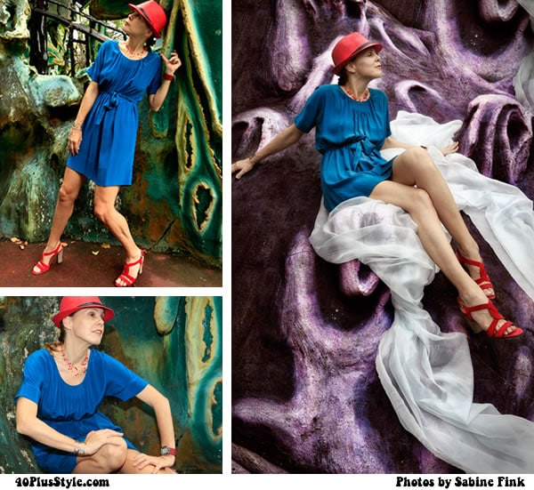 Blue Aldressedup dress - photoshoot at How Par Villa