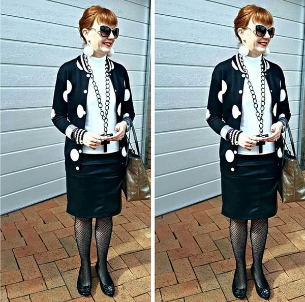 #40plusstyle inspiration: Black and white outfits | 40plusstyle.com