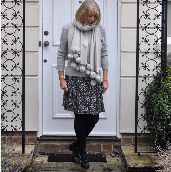 #40plusstyle inspiration: winter outfit with a skirt   40plusstyle.com