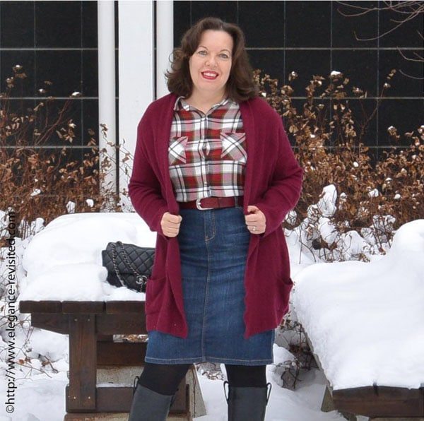 Ideas on how to wear plaid for the holidays | 40plusstyle.com