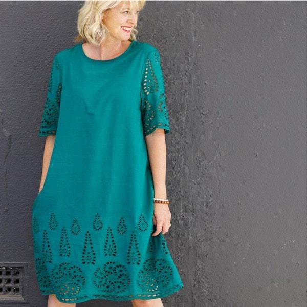 Green sun dress | 40plusstyle.com
