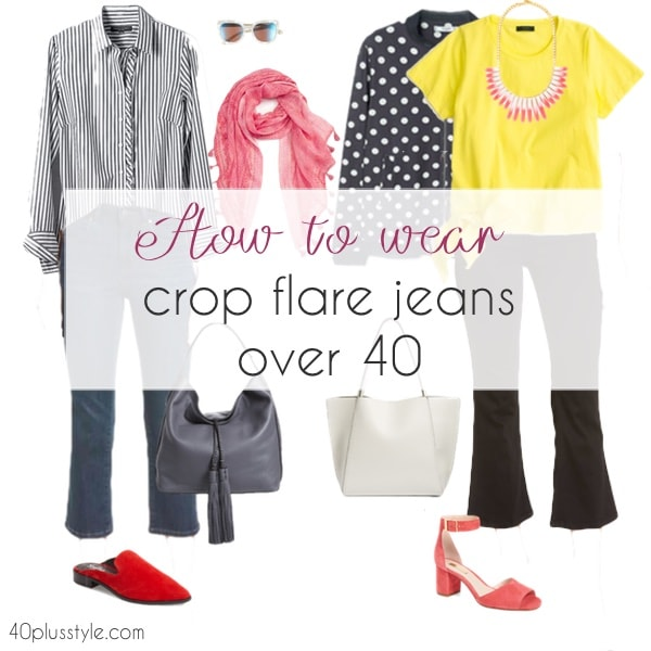 How to wear crop flare jeans over 40
