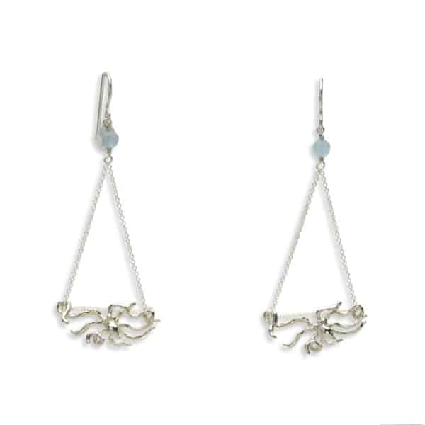 night octopus earrings
