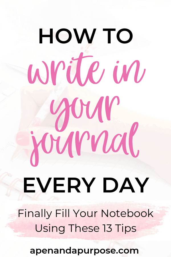Do you have a bunch of empty journal notebooks sitting on a shelf?   Learn how to write a journal entry every day so you can be more mindful and intentional about your goals.  Reach your business goals, change your mindset, and make time for things that are important to you.  Although like any habit learning to be consistent with journaling is difficult, these tips will help.  #journaling #bulletjournal