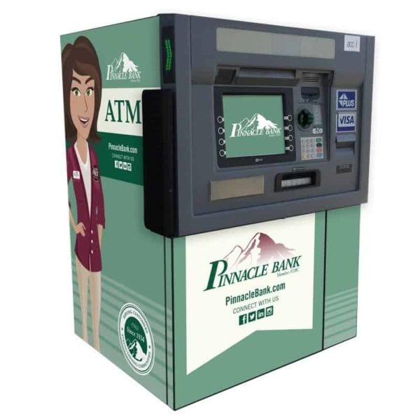 NCR SelfServ 38 ITM Drive up Interactive Teller wrap