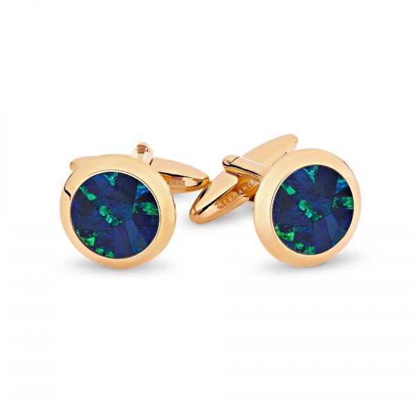 Le Rond • Sky Rose Gold Opal Cufflinks