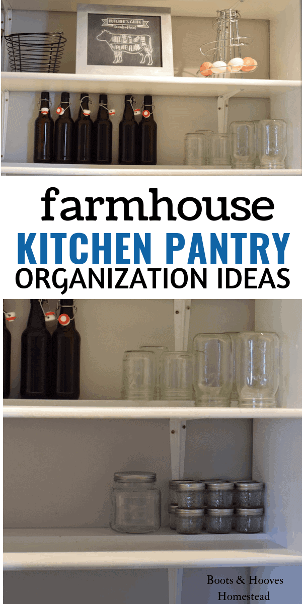 images of kitchen pantry and empty storage jars