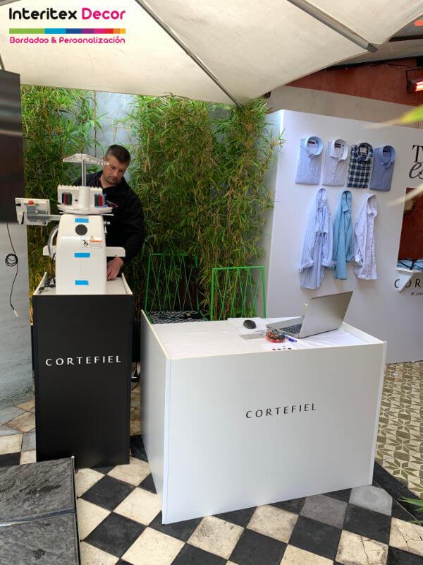 Cortefiel evento personalización y bordado en vivo, presentación prensa campaña 2019. Luis Figo.