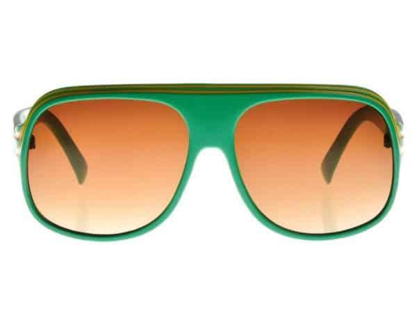 Billionaire Classic (grønn) - Retro solbrille