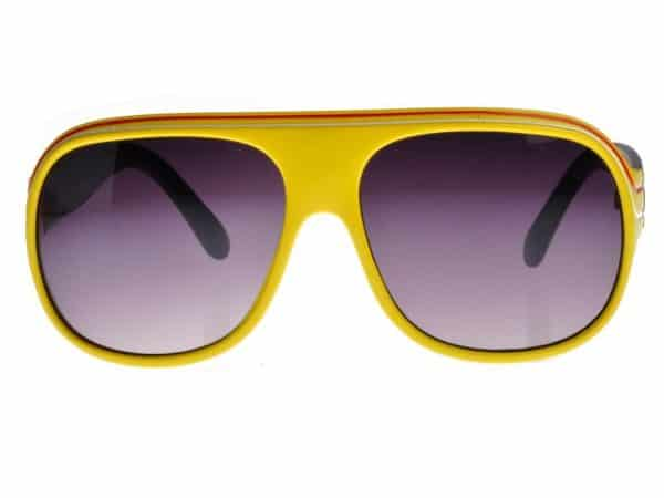 Billionaire Colour (gul/svart) - Retro solbrille