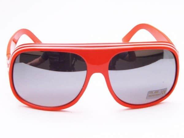 Billionaire Mirror (orange/hvit) - Retro solbriller