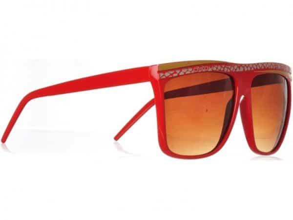 Retro Stripes - (rød) - Retro solbrille