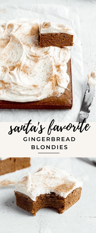 Blondies au pain d'épice faciles pour le Père Noël!