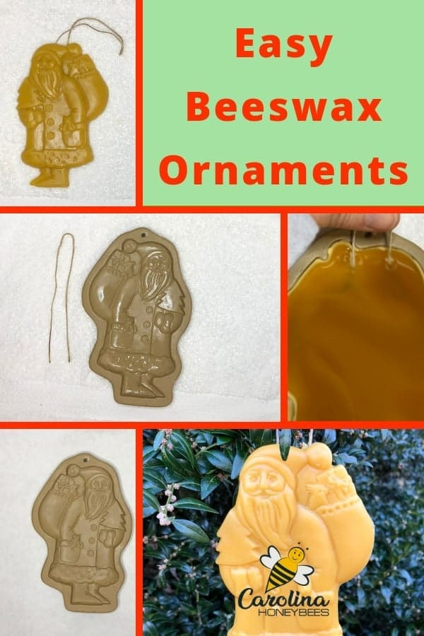 Easy to make beeswax Christmas ornaments.