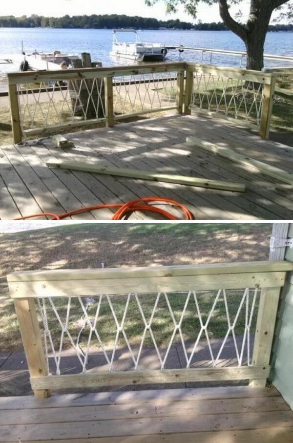 deck railing painting ideas