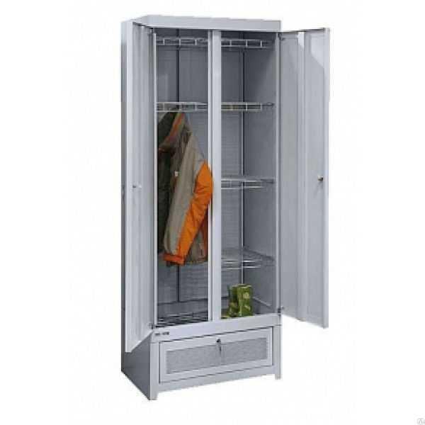 Металлический двухсекционный сушильный шкаф ШСО-22М
